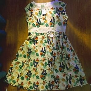 NWT Lindy Bop Parrot Dress